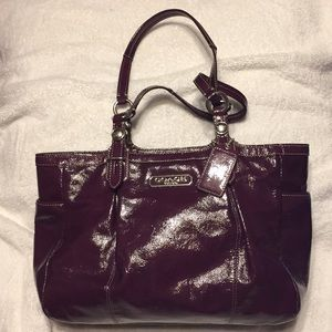 Glossy purple Coach purse, like new